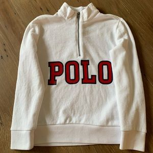 ⭐️Polo by Ralph Lauren white zip up sweatshirt- 5